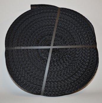 Emballagestrumpa 4-7,5 cm svart  i rulle om 50 m
