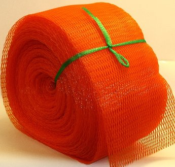 Emballagestrumpa 16-32 cm orange, rulle om 50 meter