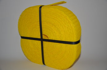 Emballagestrumpa 5-8,5 cm gul i rulle om 50 meter
