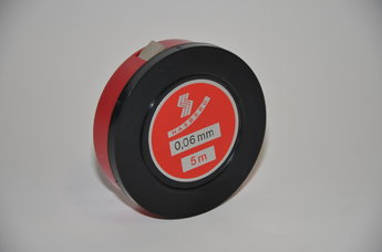Tolkstål 0,06 mm x 12,7mm tol +/- 0,003 mm, 5 m rul