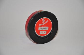 Tolkstål 0,03 mm x 12,7mm tol +/- 0,002 mm, 5 m rul