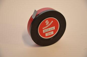 Tolkstål 0,25 mm x 12,7mm tol +/- 0,007 mm, 5 m rul