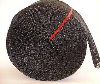 Emballagestrumpa 13-21 cm svart, rulle om 25 meter