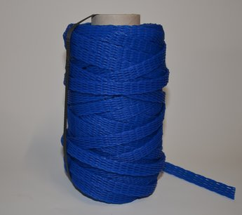 Emballagestrumpa 1-3 cm, blå i rulle om 50 meter