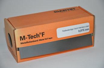 Rostfri folie 0,075 mm 150 x 2500 mm, rulle